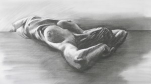 Nude 12 Original pencil Drawing 600x 800mm £2,850 framed and delivered UK